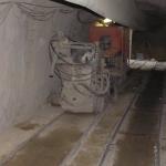 Stroj na stříkání betonu SSB 24 + Dopravní pás DP-01 + Zásobníkový vůz ZV-01 - Praktické použití