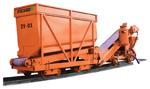 Zásobníkový vůz ZV-01 a pásový dopravník PD-01